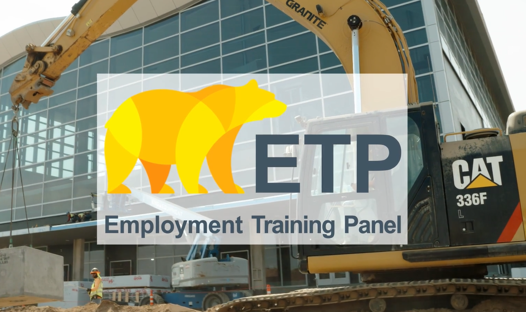 ETP Logo over Construction Site